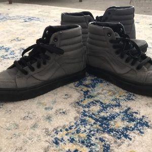 Vans black and grey high tops